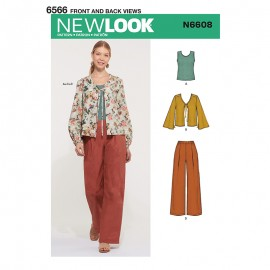 All-In-One Sewing Pattern for Woman - New Look 6608