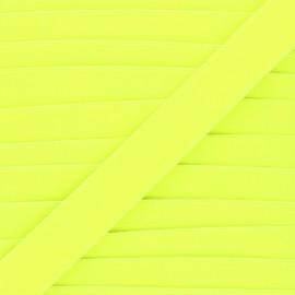 26mm Flat elastic - neon yellow Fluwoki x 1m