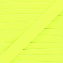Elastique plat Fluwoki 26mm - jaune fluo x 1m