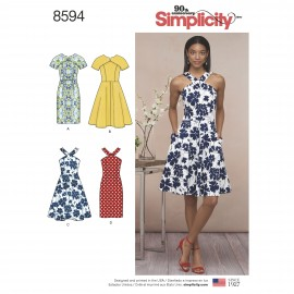 Halterneck dress sewing Pattern for Woman - Simplicity n°8594