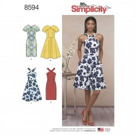 Patron Robe col croisé Femme - Simplicity n°8594