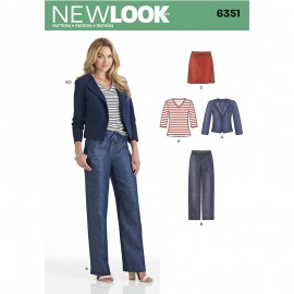 Sewing Pattern Set for Woman - New Look 6351
