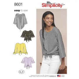 Tie blouse sewing Pattern for Woman - Simplicity n°8601