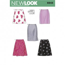 Trapeze Skirt Sewing Pattern for Woman - New Look 6843