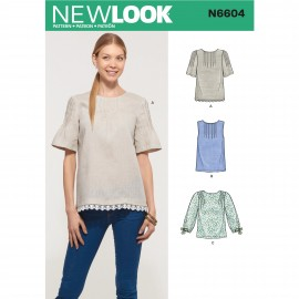 Pleated Blouse sewing Pattern for Woman - New Look 6604