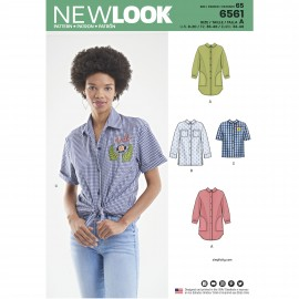 Shirt sewing Pattern for Woman - New Look 6561