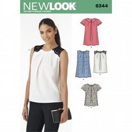 Patron T-shirt à Plis Femme - New Look 6344