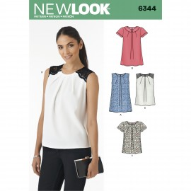 Pleated top sewing Pattern for Woman - New Look 6344