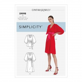Belted empire dress sewing Pattern for Woman - Simplicity n°S9098