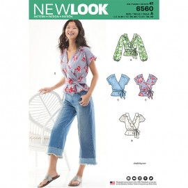 Wrap blouse sewing Pattern for Woman - New Look 6560
