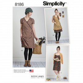 Apron dress sewing Pattern for Woman - Simplicity n°8186