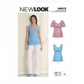 Fitted top sewing Pattern for Woman - New Look 6673