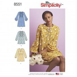 Patron Robe à plis Femme - Simplicity n°8551