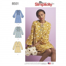 Pleated dress sewing Pattern for Woman - Simplicity n°8551