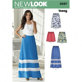 Long Skirt Sewing Pattern for Woman - New Look 6287