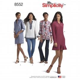 Patron Robe col chemise Femme - Simplicity n°8552