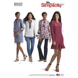 Shirt collar dress sewing Pattern for Woman - Simplicity n°8552
