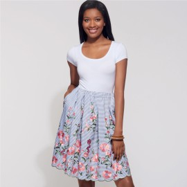 Scalooped Skirt Sewing Pattern for Woman - New Look 6605