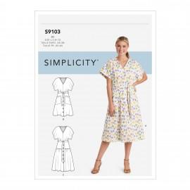 Patron Robe ceinturée Femme - Simplicity n°S9103