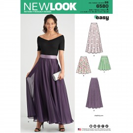 Pleated  Skirt Sewing Pattern for Wman - New Look 6580
