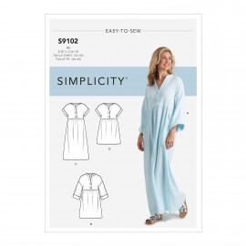 Caftan dress sewing Pattern for Woman - Simplicity n°S9102