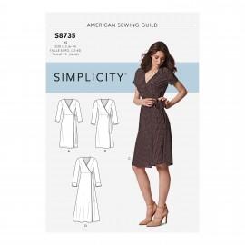 Patron Robe cache coeur Femme - Simplicity n°S8735