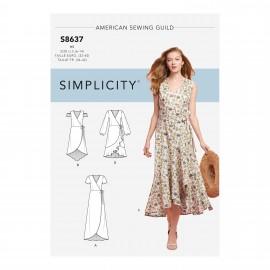 Patron Robe cache coeur Femme - Simplicity n°S8637
