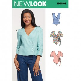 Patron Top Cache-coeur Femme - New Look 6601
