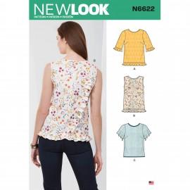 Patron Top à Volants Femme - New Look 6622