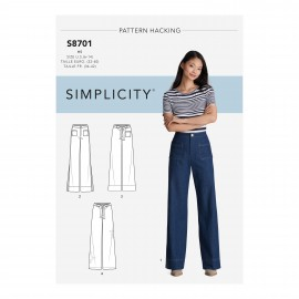 High waist pants sewing Pattern for Woman - Simplicity n°S8701