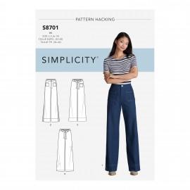 Patron Pantalon taille haute Femme - Simplicity n°S8701