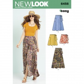 Flared Skirt Sewing Pattern for Woman - New Look 6456