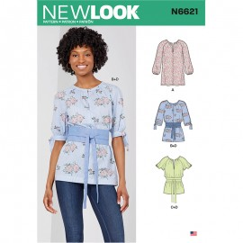 Round Collar Tunic Sewing Pattern for Woman - New Look 6621