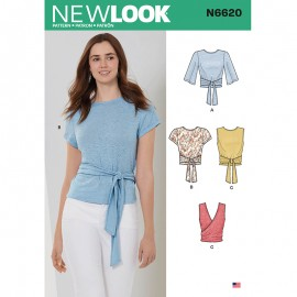 Tie Top Sewing Pattern for Woman - New Look 6620