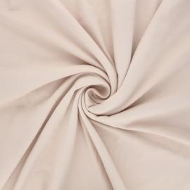 Plain viscose jersey fabric - beige x 10 cm