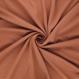 Plain viscose jersey fabric - nutmeg x 10 cm