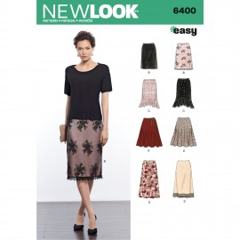 Basque Skirt Sewing Pattern for Woman - New Look 6400