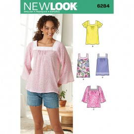 Loose-Fitting Tunic Sewing Pattern for Woman - New Look 6284