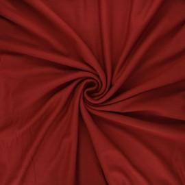 Plain viscose jersey fabric - terracotta x 10 cm