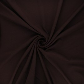 Plain viscose jersey fabric - dark brown x 10 cm