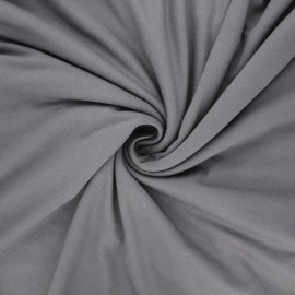 Plain viscose jersey fabric - grey x 10 cm