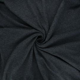 Plain viscose jersey fabric - mottled dark grey x 10 cm