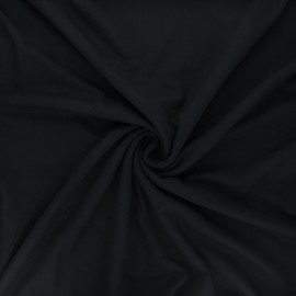 Plain viscose jersey fabric - black x 10 cm