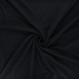 Tissu jersey viscose uni - noir x 10 cm