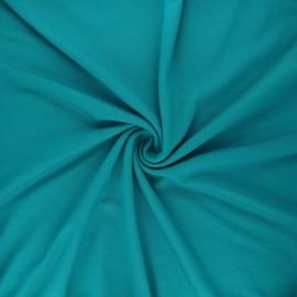 Tissu jersey viscose uni - bleu lagon x 10 cm