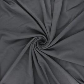 Plain viscose jersey fabric - dark grey x 10 cm