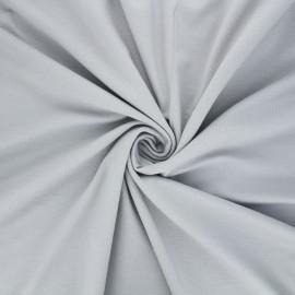 Plain viscose jersey fabric - light grey x 10 cm