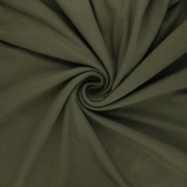 Plain viscose jersey fabric - dark khaki x 10 cm