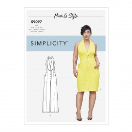 Halter back dress sewing Pattern for Woman - Simplicity n°S9097