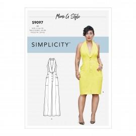 Patron Robe dos nu Femme - Simplicity n°S9097